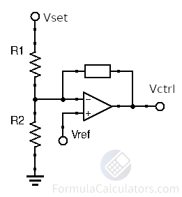 Schematic Diagram of Compensator Featuring Vref and Setpoint Resistors